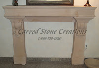 Traditional Fire Place with Corbels Woodgrain Sandstone