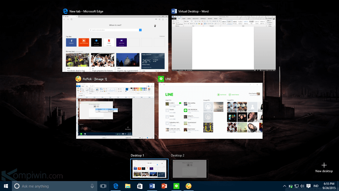 virtual desktop di windows 10 10