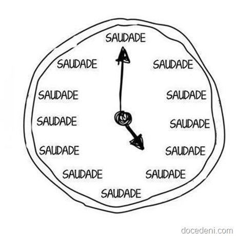 relógio da saudade
