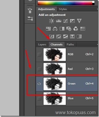 tutorial efek seleksi rambut keriting photoshop