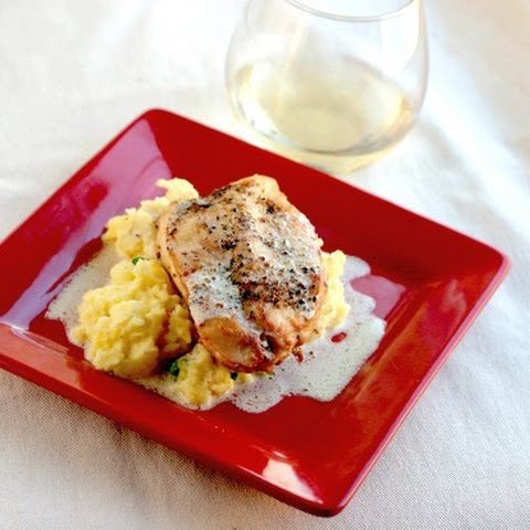 Chicken au Poivre with Sea Salt and Mashed Potatoes