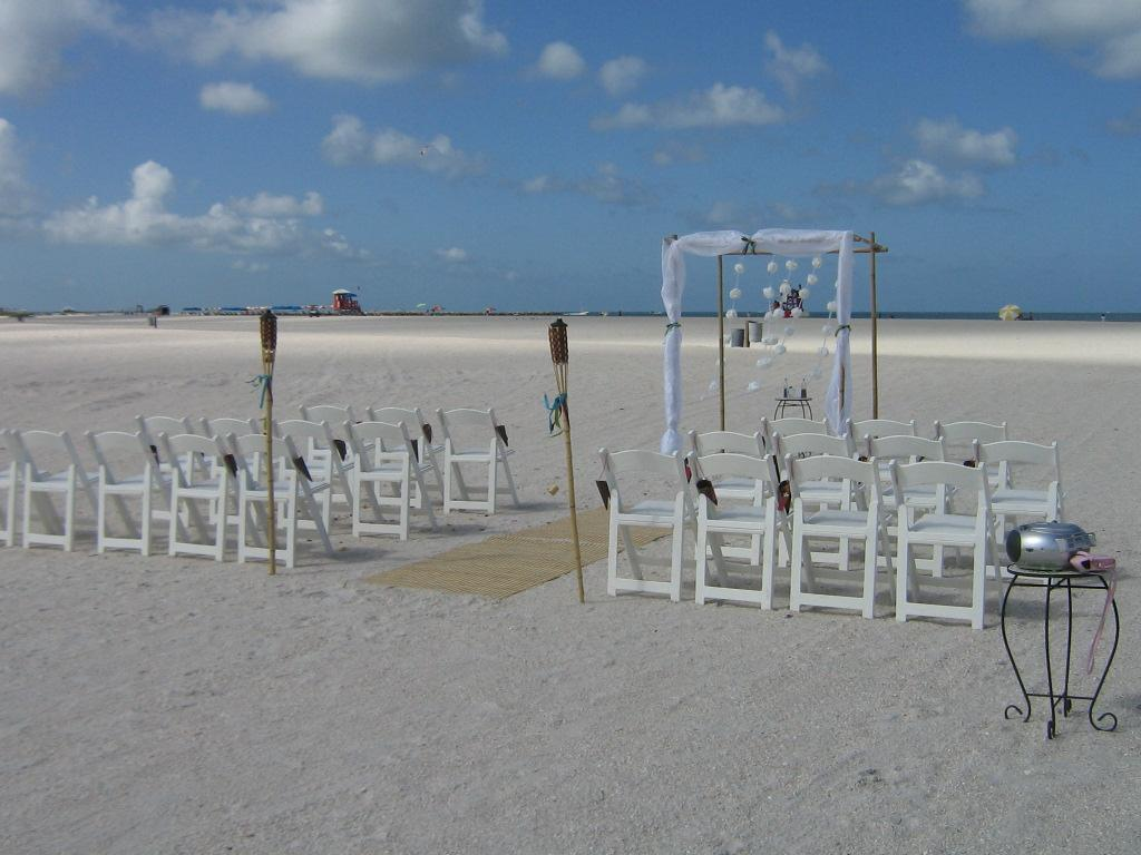 beach wedding sand key park