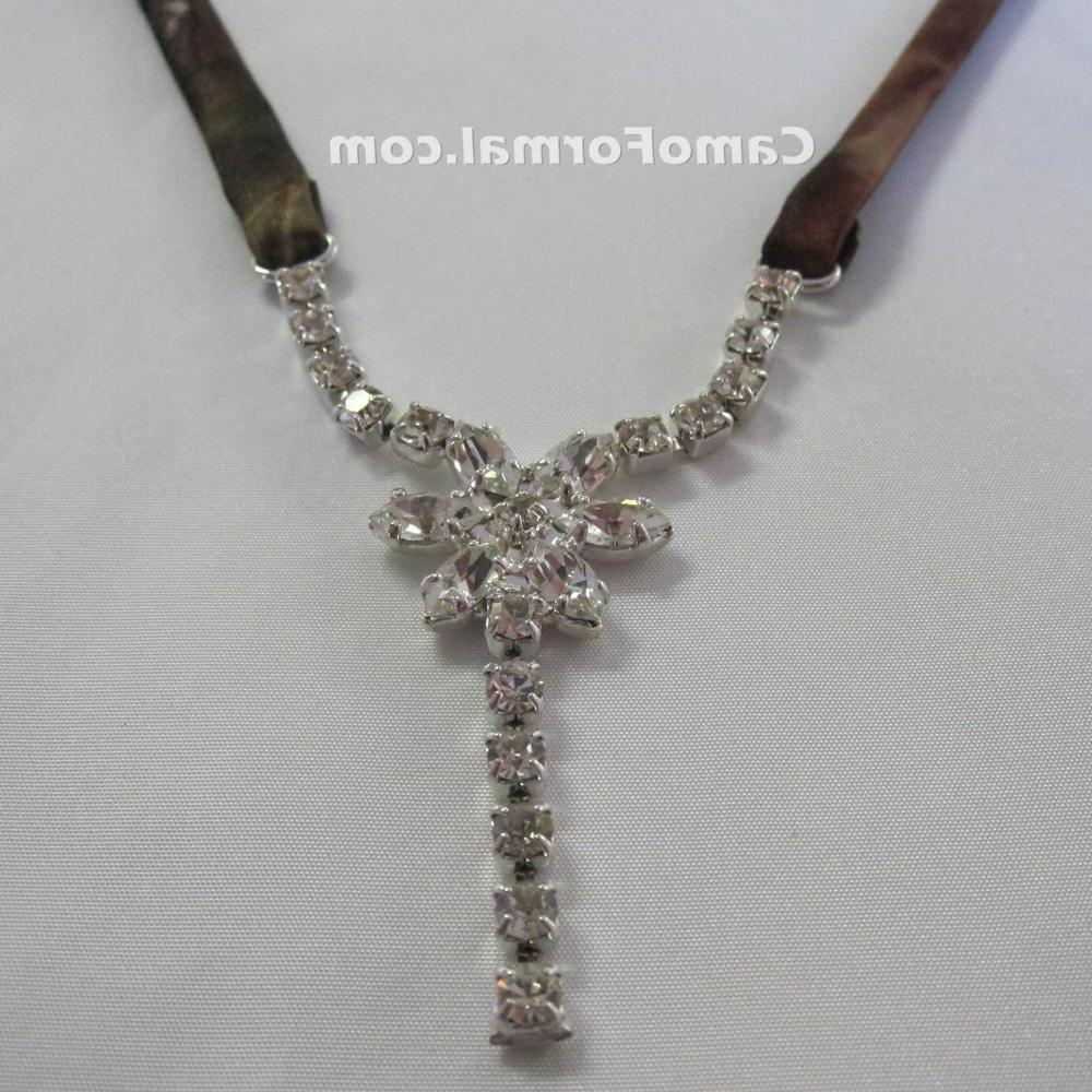 Camo Rhinestone Necklace 0308