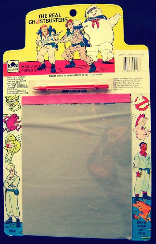 The Real Ghostbusters With Stay Puff Magic Slate Paper Saver