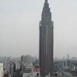 DOCOMO tower viewed from Takashimaya in Shinjuku, Tokyo, Japan