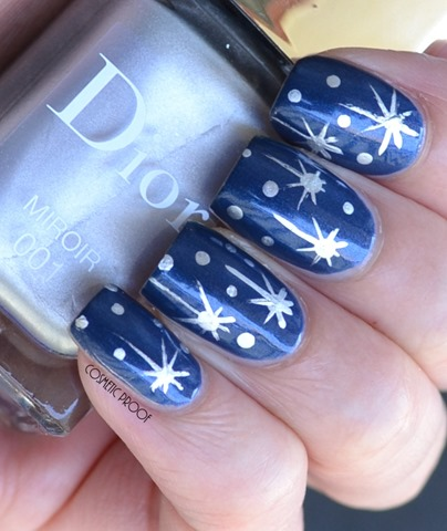 Dior Darling Blue Miroir Starry Sky Nail Art (2)