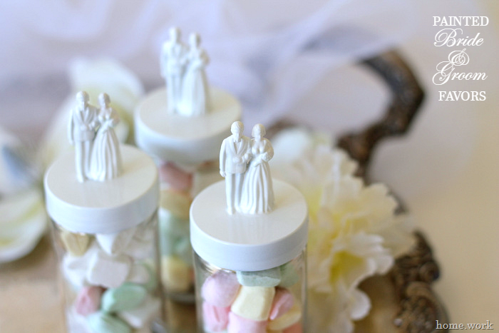 Painted Bride & Groom Wedding Favors - homework - carolynshomework (2)