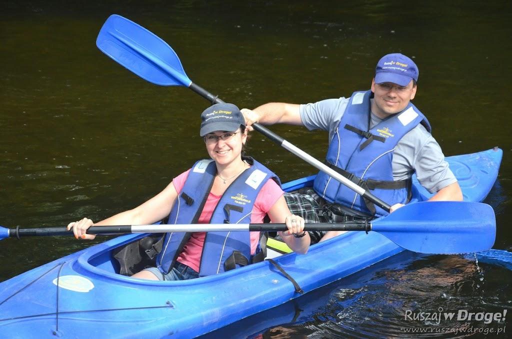 Kasia i Maciej na spływie kajakowym