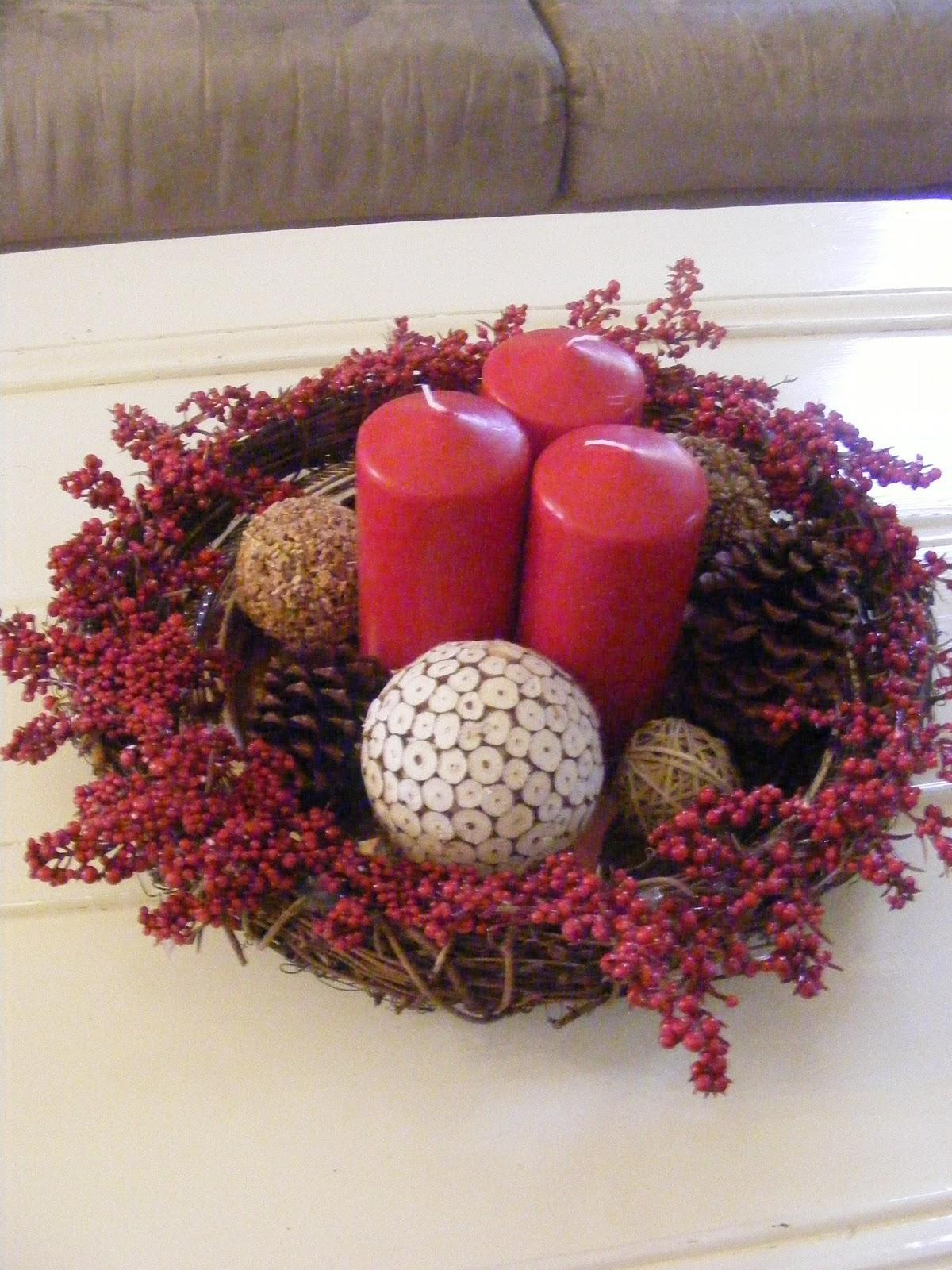 ornament wedding centerpieces