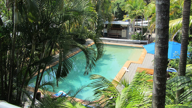 The pool at our hostel in Byron Bay.