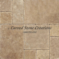 Noce Travertine Standard Versailles Pattern Honed Unfilled Brushed Chipped Tile