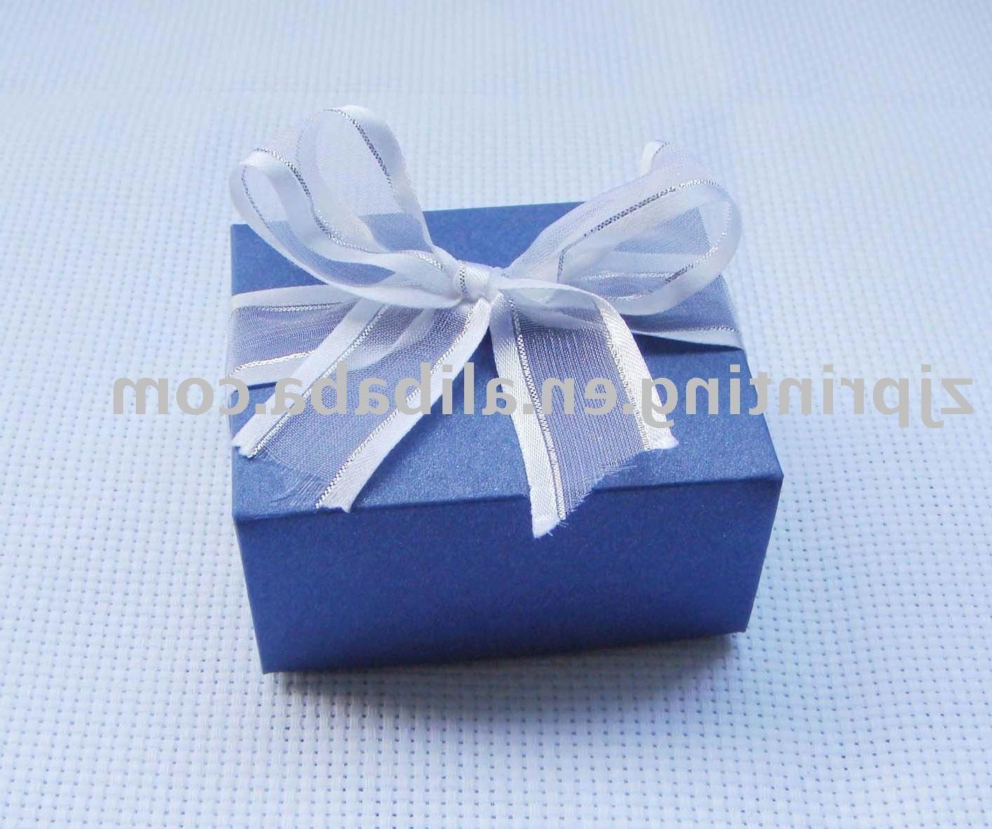 Wholesale 96 Cube Blue Wedding Favor Boxes