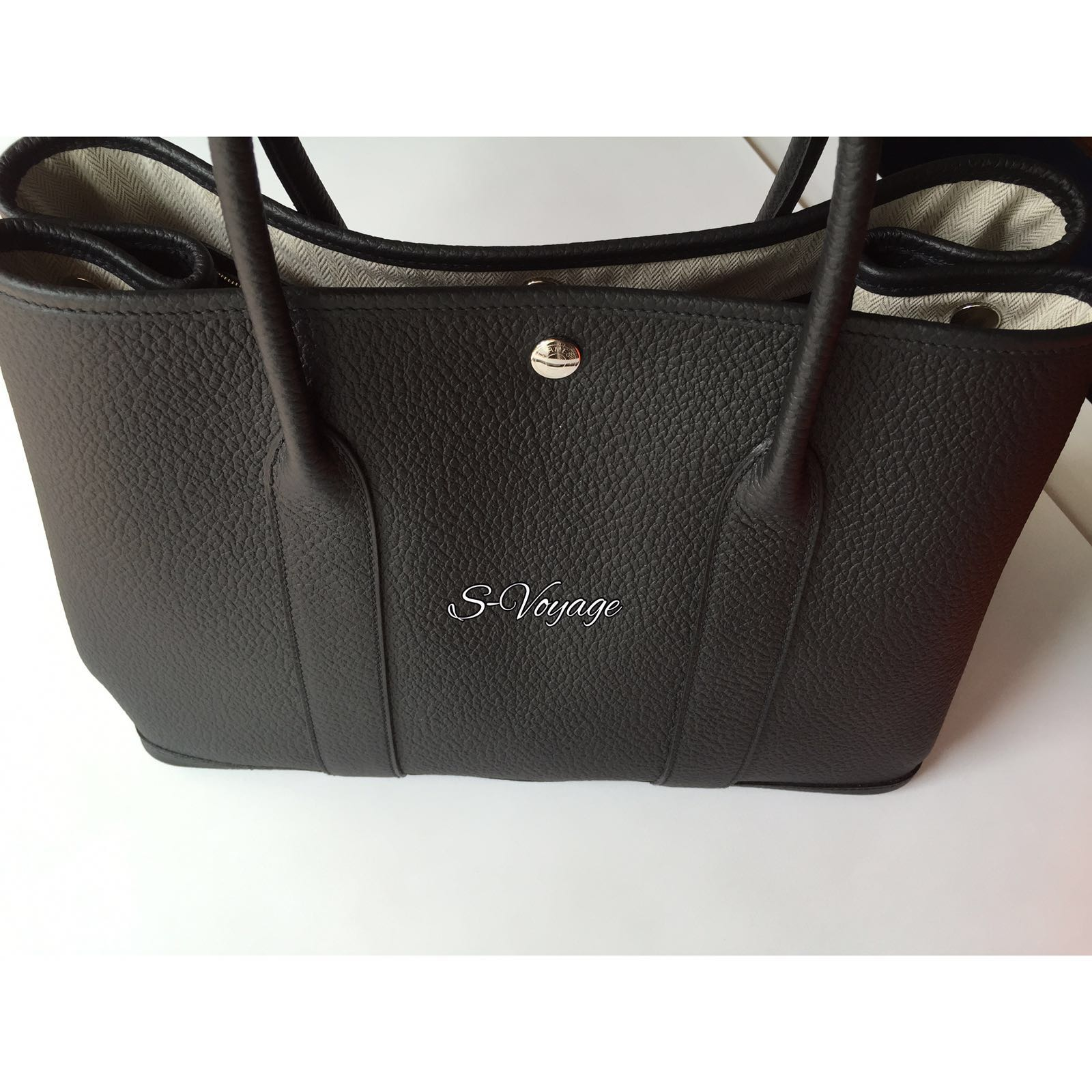Brand New Hermes Garden Party Tote Bag Size 36cm in Black and Negonda  Leather Stamp T. 6bc2ef96cd