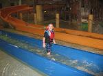Logan Vojtko and Hannah going down a water slide at Kalahari in OH 02182012a