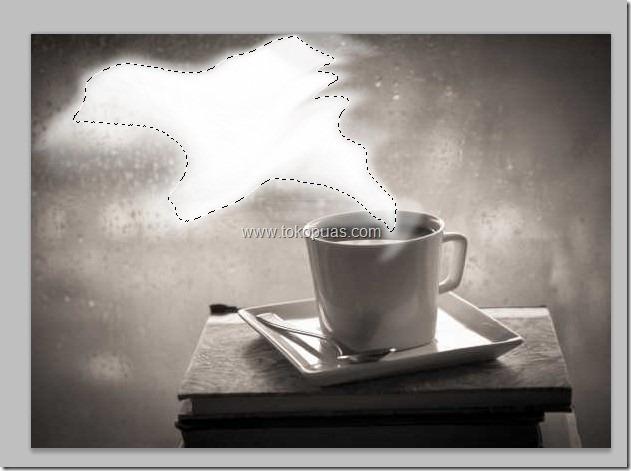 cara memanipulasi asap putih uap di photoshop