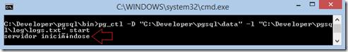 iniciar servidor postgresql