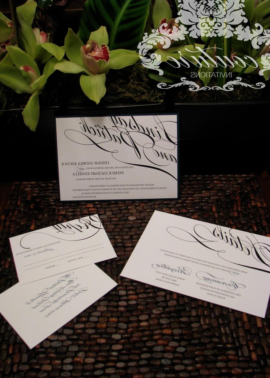 invitation suite I did for