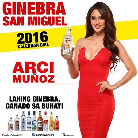 Arci Muñoz is Ginebra's 2016 Calendar Girl
