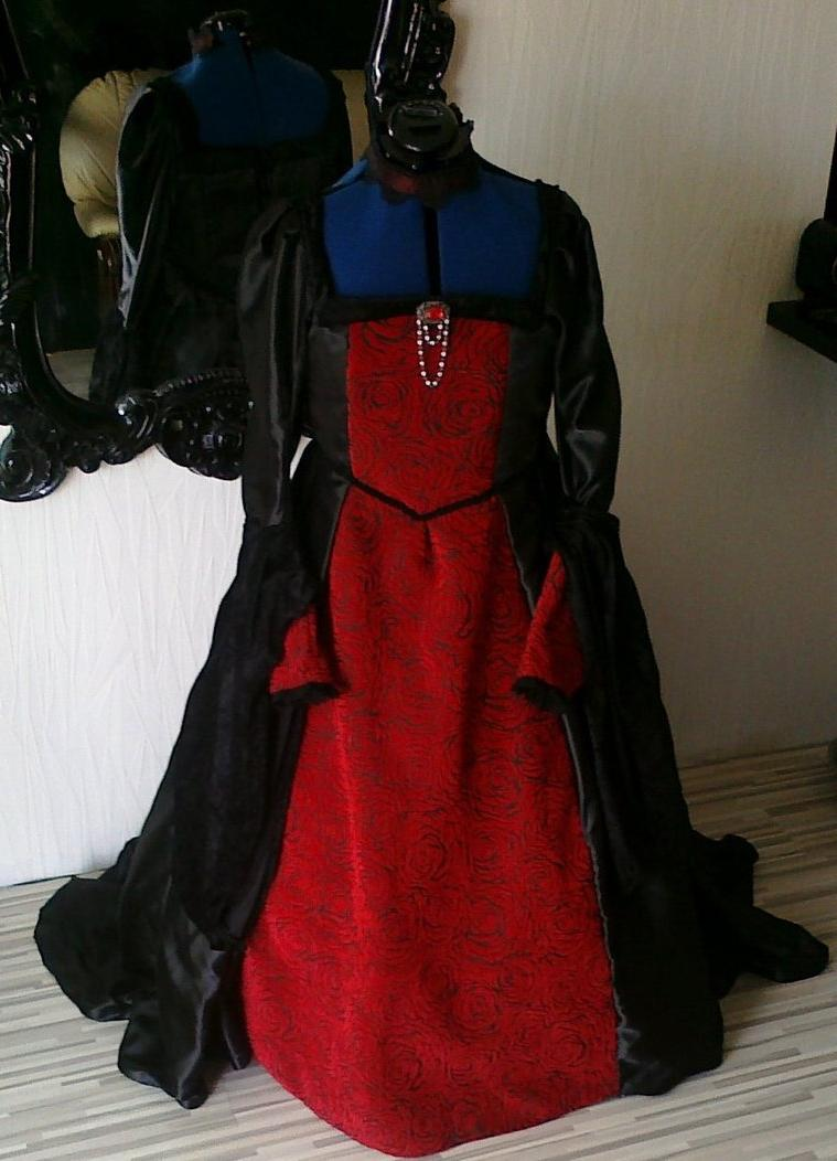 gothic vampire wedding gown by