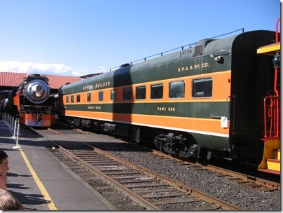 IMG_2881 Southern Pacific Daylight GS-4 4-8-4 #4449 & SP&S Sleeper-Lounge #600 Mount Hood at Union Station in Portland, Oregon on May 8, 2010