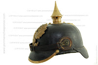 The side profile of the Pickelhaube model 1895