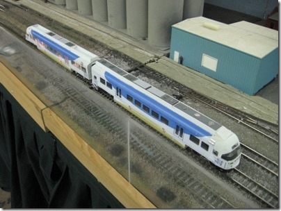 IMG_5936 TriMet Westside Express Service DMUs on the Beaverton Modular Railroad Club's HO-Scale Layout at the Great Train Expo in Portland, Oregon on February 14, 2009