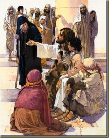 CON POBRES Y ENFERMOS JESUS