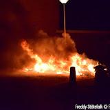 brandje vrijheidstraat oudjaarsavond 2015 foto s Freddy Stotefalk