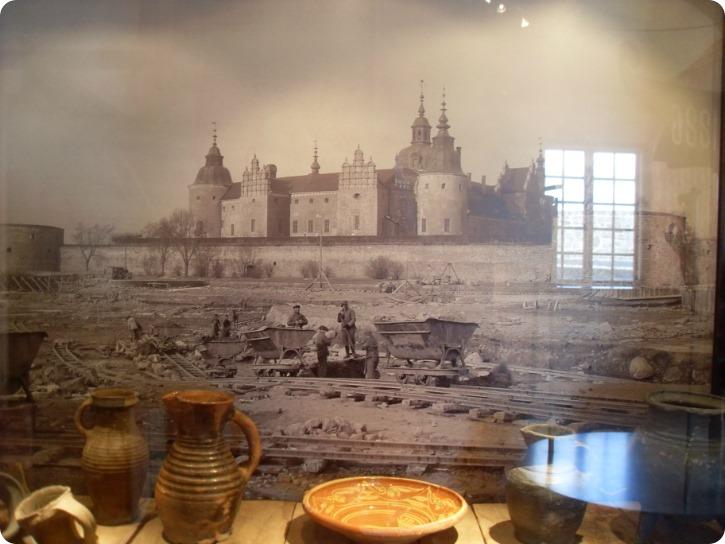 Genopbygningen af Kalmar Slot - udgravning af voldgraven