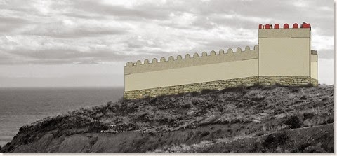 Recreación del fuerte ibérico de Aigües Baixes - El Campello