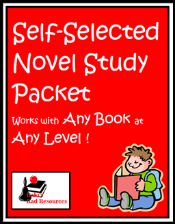 Back to School Tip - Take time now to print and bind together what your students will need, like this self selected novel study packet that works with any book at any level, for the entire school year. This helps your save time, sanity and quality teaching practices later. Suggestions from Raki's Rad Resources