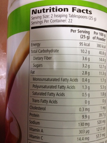 Herbalife Formula 1 Nutrition Facts - Nutrition Ftempo