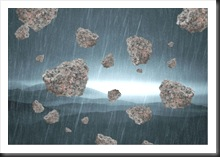 stones raining