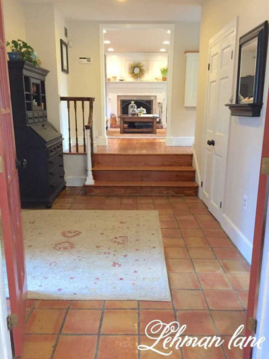 foyer with stone floor