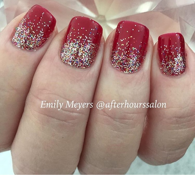 For This Look I Layered 2 Shellac Colors CND In Red Baroness Is A Beautiful Shimmery But Layering Decadence Gives It So Much