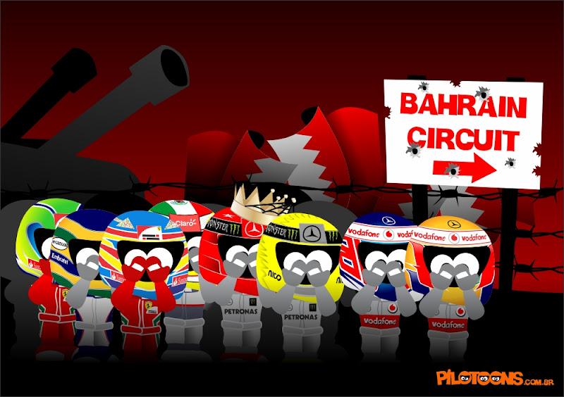 pilotoons пилоты прибывают на Гран-при Китая 2012