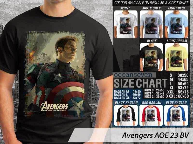 Jual Kaos Captain America superhero Avengers 23