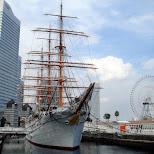 classic ship in yokohama bay in Yokohama, Tokyo, Japan