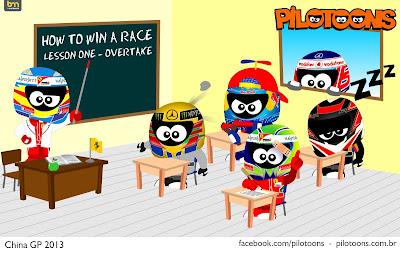 Фернандо Алонсо и его урок о победах - pilotoons по Гран-при Китая 2013
