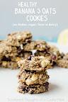 banana and oats cookies