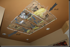 """Ceiling hole...""""almost"""" fixed."""