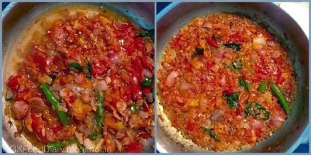 Onion Tomato Gravy Recipe | Side dish For Chapati/Roti 6