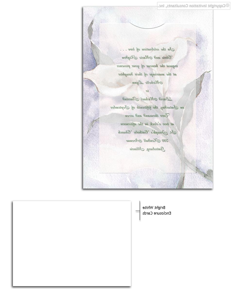 Calla Lily Creation - Wedding Invitations by Invitation Consultants.