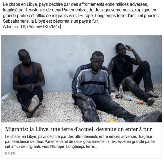 immigracion e mòrt Líbia tèrra de fugir