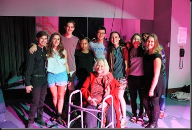 Betty with the  cast of vibrator play