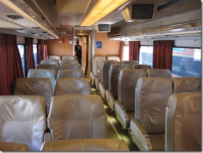 IMG_2791 Amtrak Cascades Talgo Pendular Series VI Coach Class Interior at Union Station in Portland, Oregon on May 8, 2010
