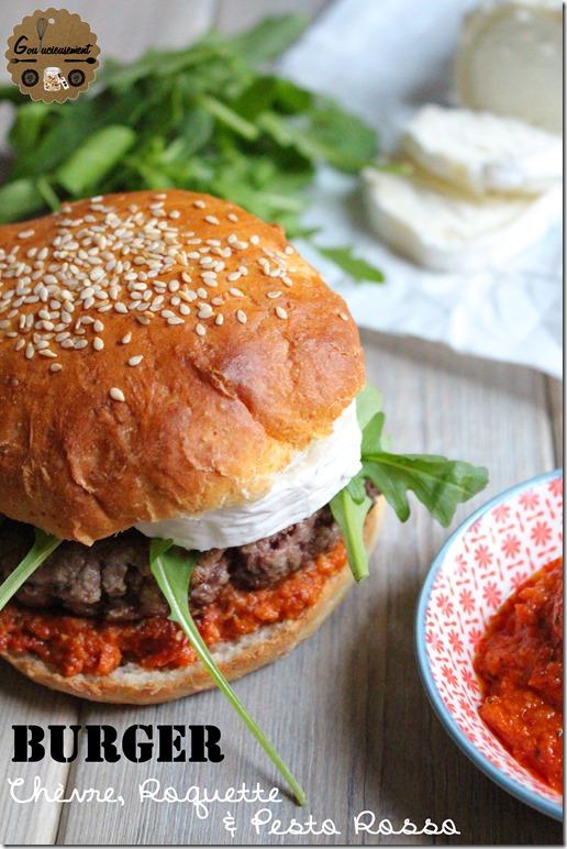 Burger Chèvre Roquette & Pesto Rosso 6