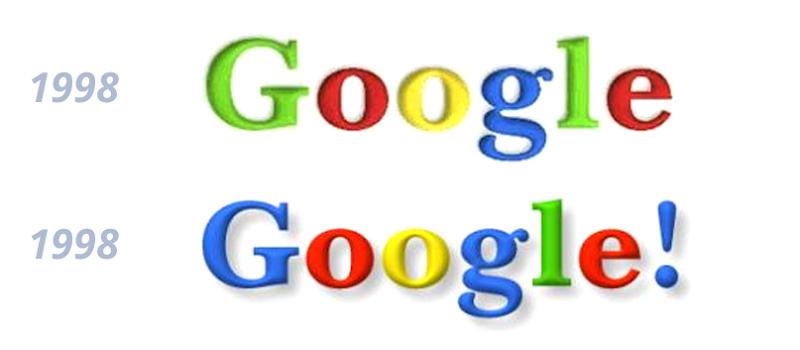 Así han sido los logos de Google a lo largo del tiempo
