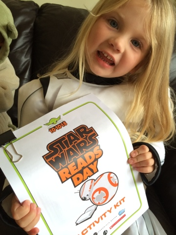 Maegan Clement with the Star Wars Reads Day 2015 Activity Kit