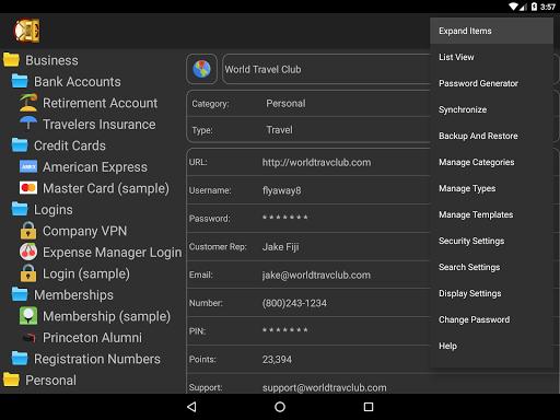 DataVault Password Manager - screenshot